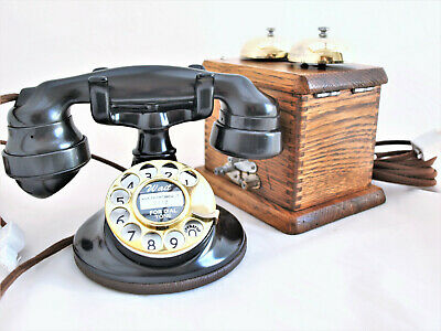 TELEPHONE 1920s AMERICAN WE 102, ART DECO with box  RESTORED IN MY WORKSHOP