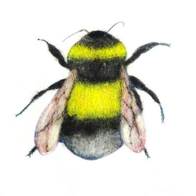 Bee Painting with Wool Pack by The Makerss