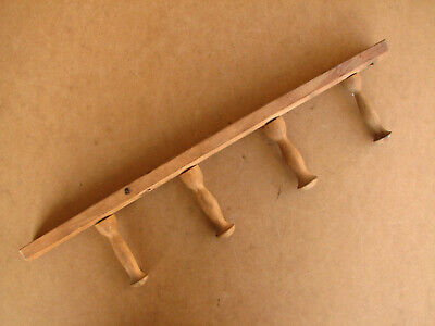 Old Antique Primitive Wooden Wood Wall Hanger Rack for Kettles Dishes Rustic.