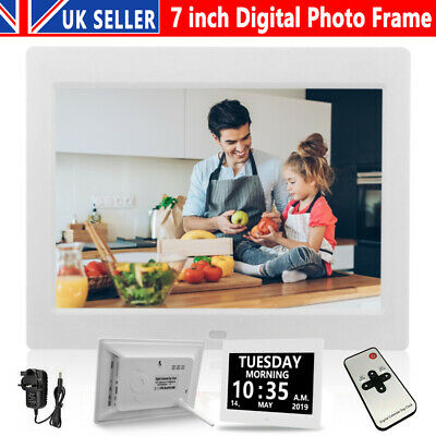 7 Inch LED Digital Photo Frame Electronic Album 1024*600 MP3 MP4 Player +Remoter