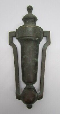 Vtg Antique 1909 Corbin Solid Brass Door Knocker Victorian Salvaged