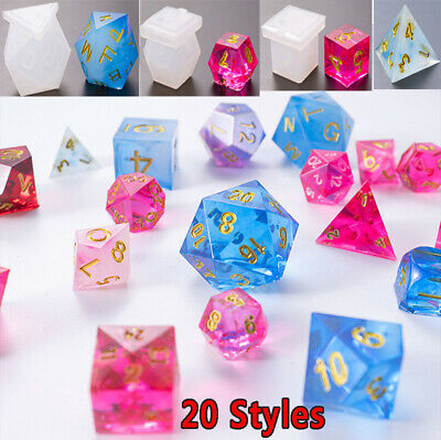 Silicone Dice Pendant Jewelry Making Mold Resin Epoxy Mould Casting Craft Tool