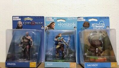 Totaku Collection Horizon Zero Dawn Aloy Sack Boy & GOW Kratos Figures New!