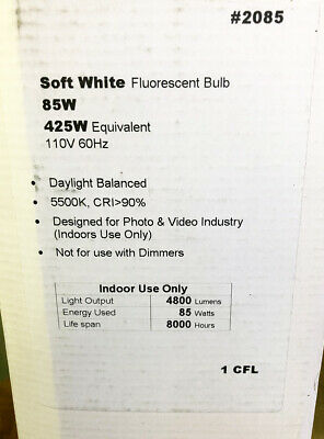 Seven Lamps CFL 5500K, 110V, 85 Watt