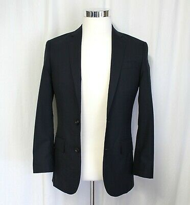 J Crew Ludlow Slim-fit Suit Jacket Double Vent In Italian Wool Navy 34S Altered