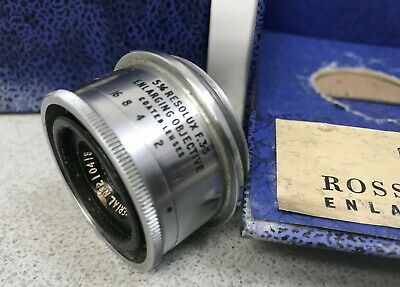 Ross 5cm Resolux f/3.5 Enlarging Objective Coated Lens, Boxed, 39mm Screw Mount