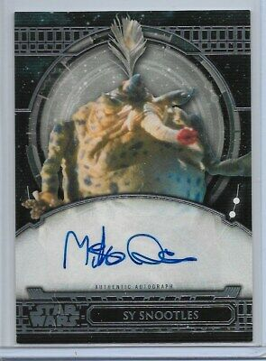 2017 Topps Star Wars 40Th Anniversary Mike Quinn As Sy Snootles Autograph Auto