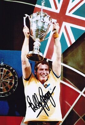Bobby George (Darts Champion), Hand Signed A4 Photo.