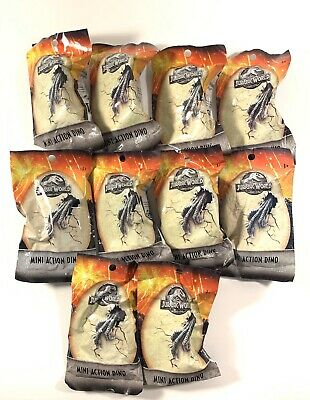 Lot Of 10 Jurassic World Mini Action Dino Blind Bags Mattel
