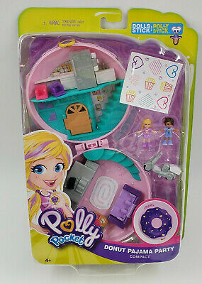 Polly Pocket Compact Donut Pajama Party Playset BRAND NEW IN HAND!