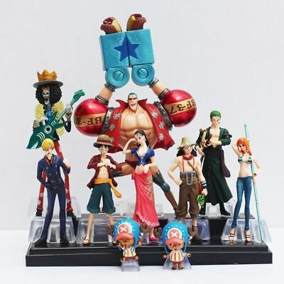 Set 10 personaggi One Piece Anime Statuette Action Figure