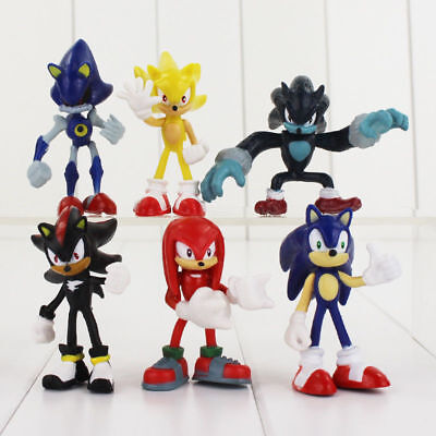 Sonic Set 6 Personaggi Action Figure Statuette Pvc