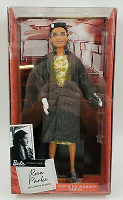 Rosa Parks Barbie Inspiring Women Doll New In Box Mattel Ready to Ship!