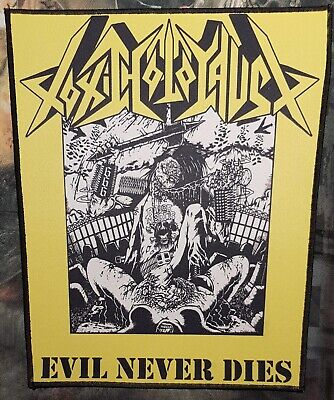 toxic holocaust - Evil never Dies -  printed backpatch - FREE SHIPPING