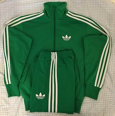 Adidas Originals ADI-Firebird Tracksuit Green White Size M **With Stains**