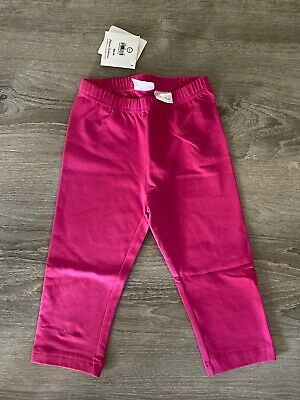 Girls Hanna Andersson Capris Leggings Stretch Cotton Pink 120cm US 6-7