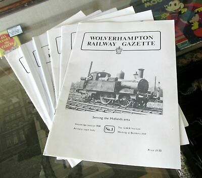 Wolverhampton Railway Gazette Magazine Issues 1-6~Vintage Gwr~Oxley Bushbury Etc