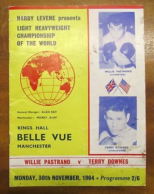 1964 Pastrano/Downes Boxing Programme~Signed By Billy/Graham Walker/Harry Levine