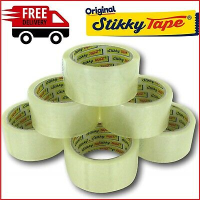 Clear Strong Parcel Packing Tape Carton Sealing 48Mm X 66M Packaging Cellotape