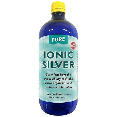 Colloidal/Ionic Silver 1 Litre Positively Charged Bacteriostatic  Guaranteed PPM
