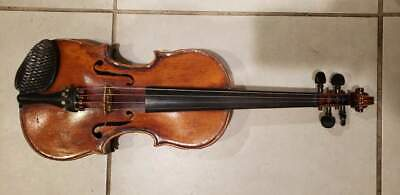 BAUSCH VIOLIN ? Instrument w/ Case Rare Vtg Antique NO BOW INCLUDED