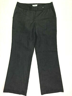 Calvin klein trousers dress career pants pinstriped grey size 6 womens