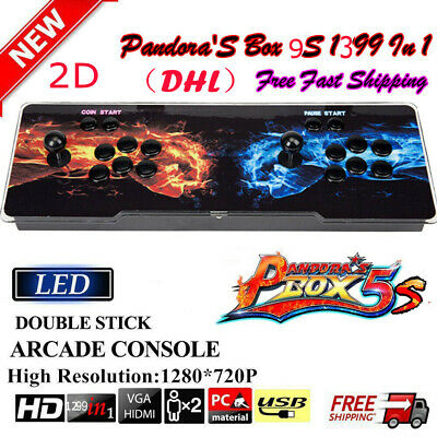 Upgraded Pandora's Box 9S 1299 Game in 1 Retro Video Game Arcade HDMI Console EG