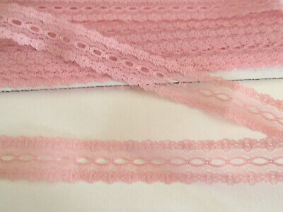 dusty pink eyelet/coathanger/knitting in lace x 5 metres