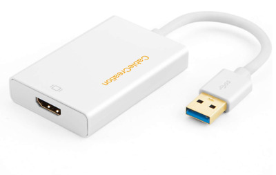 USB 3.0 to HDMI Adapter (Display Link Chipset), CableCreation USB External Video
