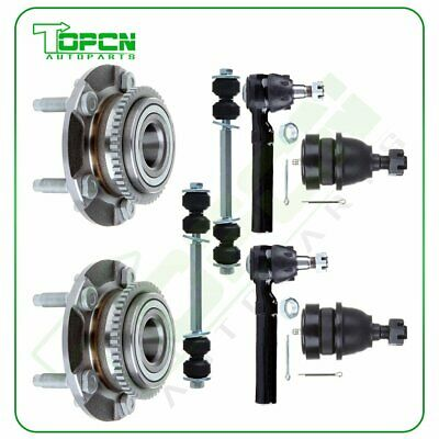 For 1994-2004 Ford Mustang Front Wheel Bearing Set Lower Ball Joint Tie Rod Sway