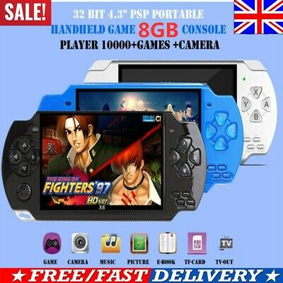 """32 Bit 4.3"""" PSP Portable Handheld Game 8GB Console Player 10000+Games+Camera X6*"""