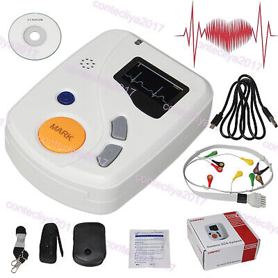 12 Channel ECG Holter EKG Monitor 12 lead 48 Hours Recorder Software Analyzer