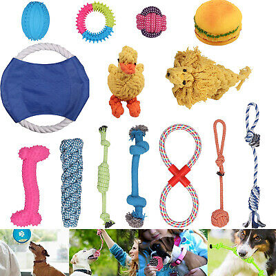 Dog Puppy Toy Rope Teething Chew Playtime And Teeth Cleaning Cotton Rope Toy Kit
