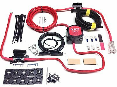 5mtr Professional Durite Split Charge Kit +12 way fuse box for camper van wiring