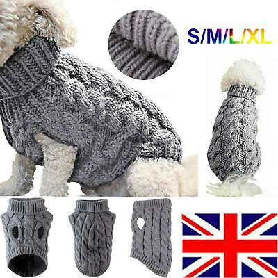 Fashion Knitted Puppy Dog Jumper Sweater Pet Clothes For Small Dog Coat Outfit a