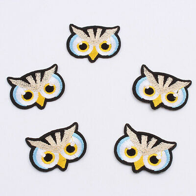 Cute Owl Animal Iron on Patches Cartoon Sticker for Clothes Kids DIY Decor Badge