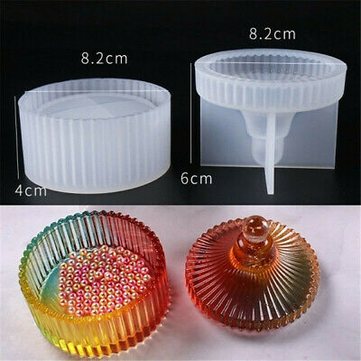 Epoxy Jewellery Round Storage Box Mold Resin Making Mould Casting Crafts DIY