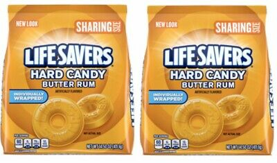 (2 Pack) LIFE SAVERS Butter Rum Hard Candy, 14.5-Ounce Sharing Size Bag