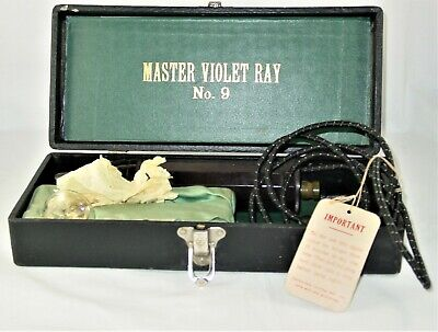 ANTIQUE QUACK MEDICINE 1920's MASTER VIOLET RAY # 9  ELECTRIC MEDICAL DEVICE