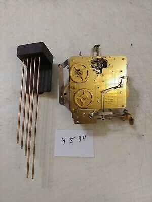 Seth Thomas  Tambour Mantle Clock Westminster Chimes Movement & Bar
