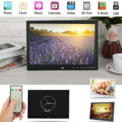 "15""inch HD LED Digital Photo Picture Frame Clock Movie MP4 Player Remote Control"