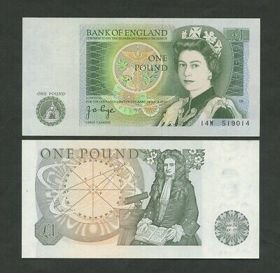 BANK OF ENGLAND Page £1 1978 QEII  B337  About Uncirculated  Banknotes