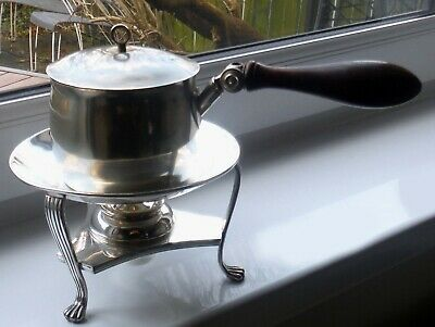 ANTIQUE SILVER PLATED BRANDY/SAUCE WARMER - A M & Co  %.