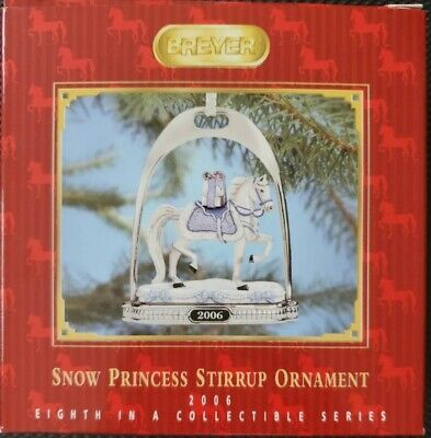 Breyer 700306 2006 Snow Princess Holiday Horse Stirrup Ornament - NIB