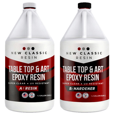 EPOXY RESIN 1 Gallon Kit, ART, CRAFTS & TABLE TOPS SUPER CLEAR NEW CLASSIC RESIN