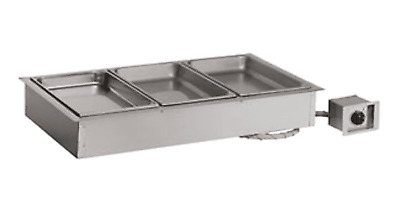 Alto Shaam 3 Pan Electric Drop In Hot Food Well 300-HW/D6 Stainless Steel