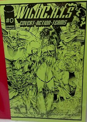 Image Comics Ashcan Edition #0 WILDC.A.T.S numbered Image Green cover 8.5 x 5.5