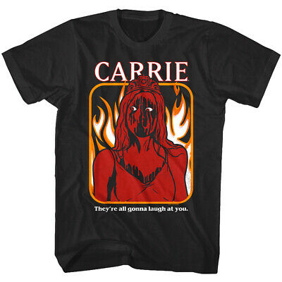 Carrie They're All Gonna Laugh at You Men's T Shirt Horror Movie Fire Blood