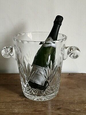 Magnum Size Lorraine Lead Crystal Glass Champagne Ice Bucket - Limited Edition