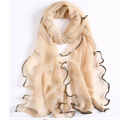 Fashion Women Soft Wrap Scarf Sunscreen Voile Sheer Scarves Spring Shawls ONE